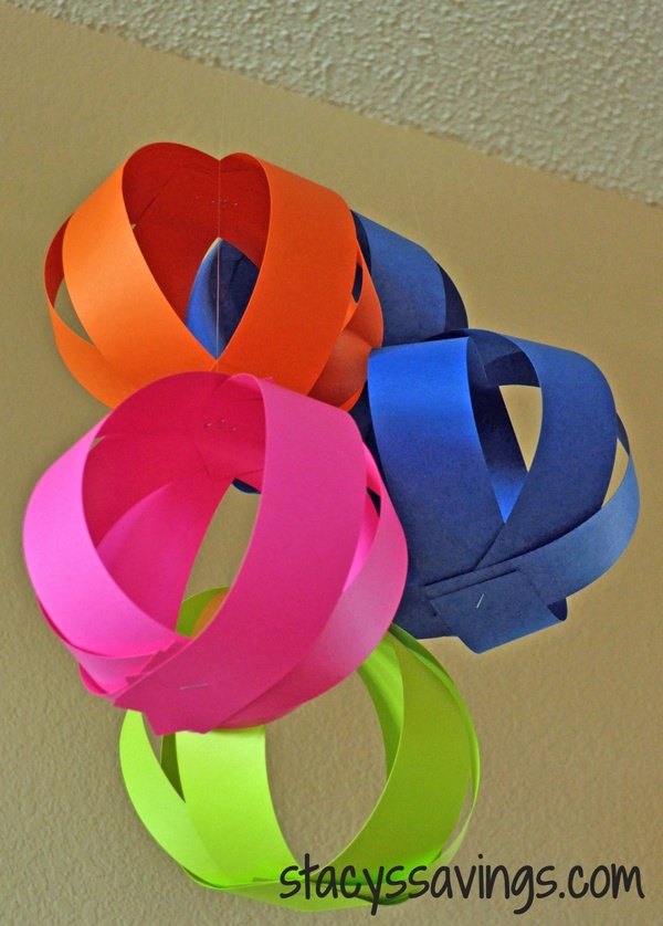 Easy paper ball party decorations a pinterest project - Hanging paper balls decorations ...