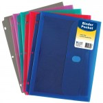 Binder Pocket With Velcro