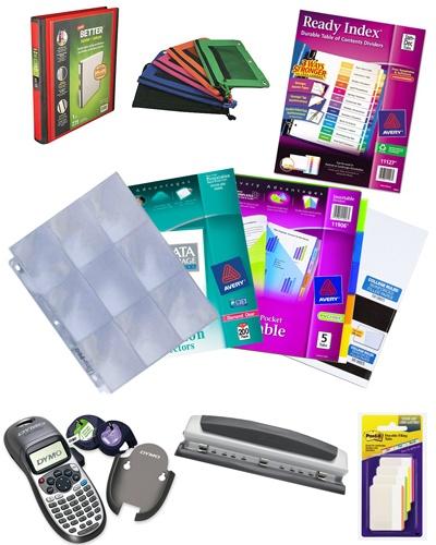 Blog Binder Supplies