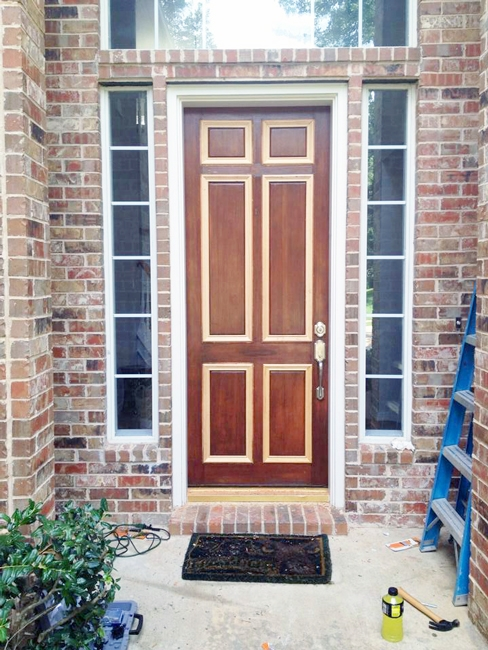How I fixed my solid wood front door by replacing all of the moldings by myself