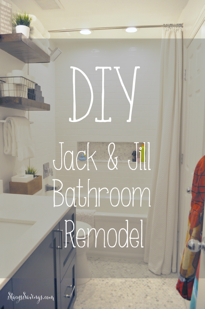 diy jack jill bathroom remodel - Bathroom Remodel Kids