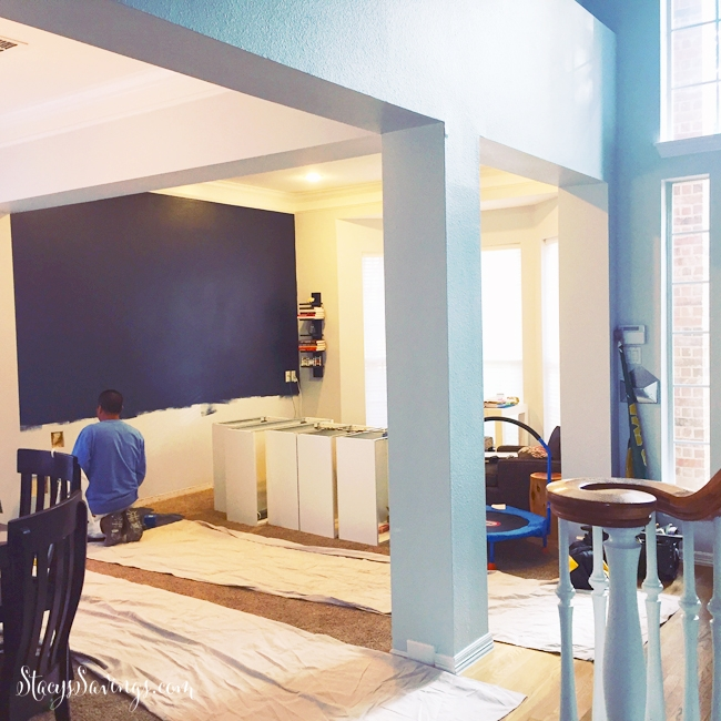 Take Out Wall Between Formal Dining Room And Our Living: Enclosing A Formal Living Room To Create A Home Office