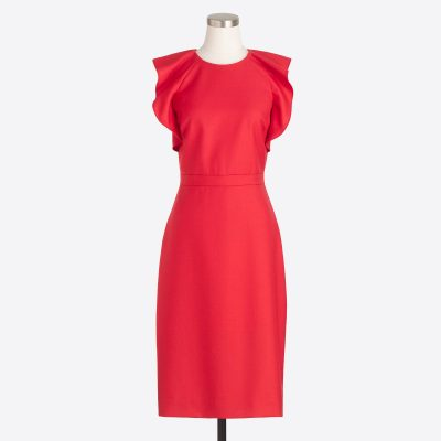 j crew factory flutter sleeve dress