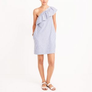 j crew factory one shoulder dress