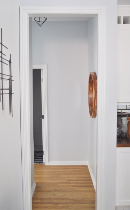 """I absolutely love my Young House Love Geometric Light in my hallways. They are the perfect replacement for the """"boob"""" lamp or the cheap globe fixtures that we had before!"""