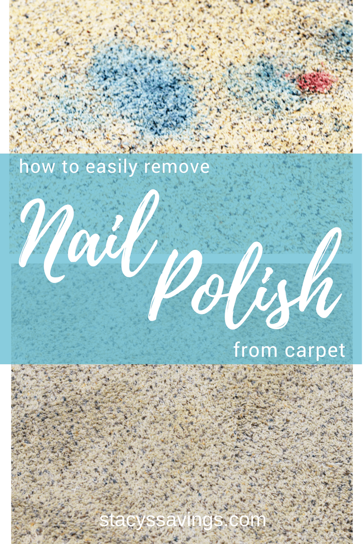 How to easily remove nail polish from carpet