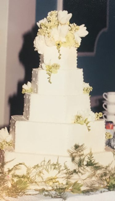 Hexagon Tiered Wedding Cake