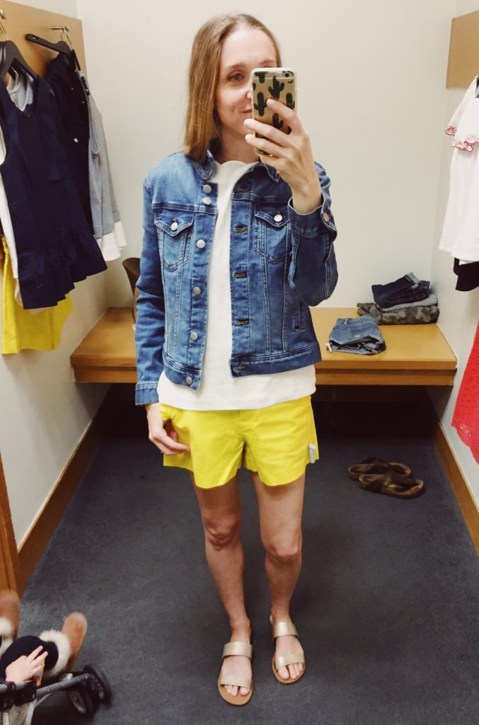 J.Crew Factory Denim Jacket. See all of the cute things I found at my local J.Crew Factory store in March 2018.