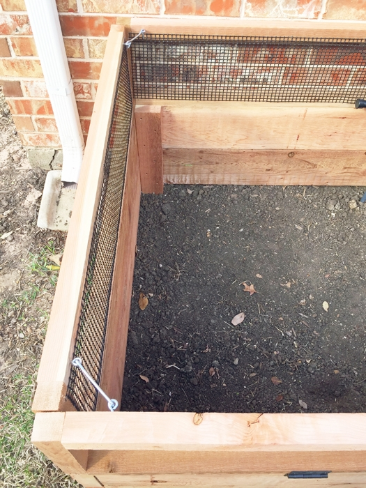 How I built my custom DIY raised garden bed complete with bunny gates.