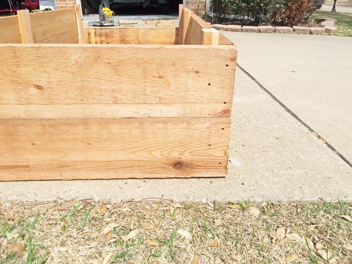How I assembled my custom DIY 9x4 cedar raised garden bed .