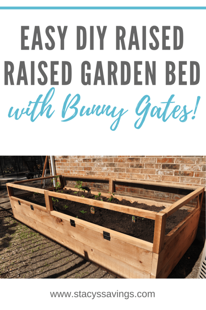 How I built an easy DIY Raised Garden Bed With Bunny Gates