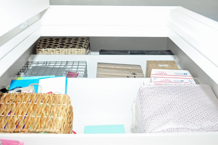 See how I upgraded the builder-grade closet in our guest room/craft room to meet the needs of our guests as well as maximize storage for craft items, shipping supplies, and other rarely accessed items.