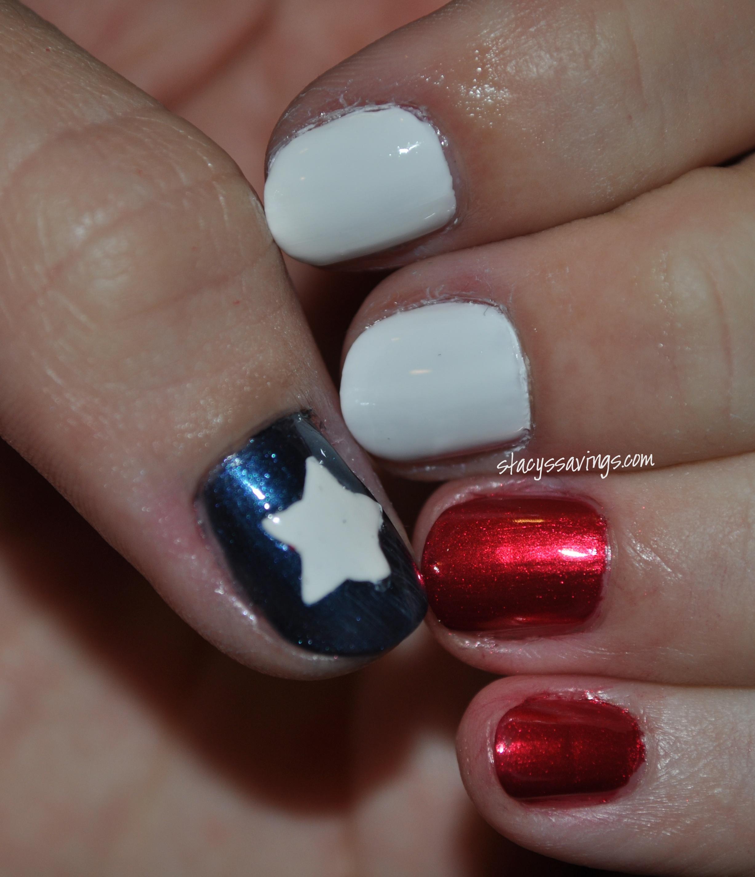 Other Stuff Texas Flag Nail Art