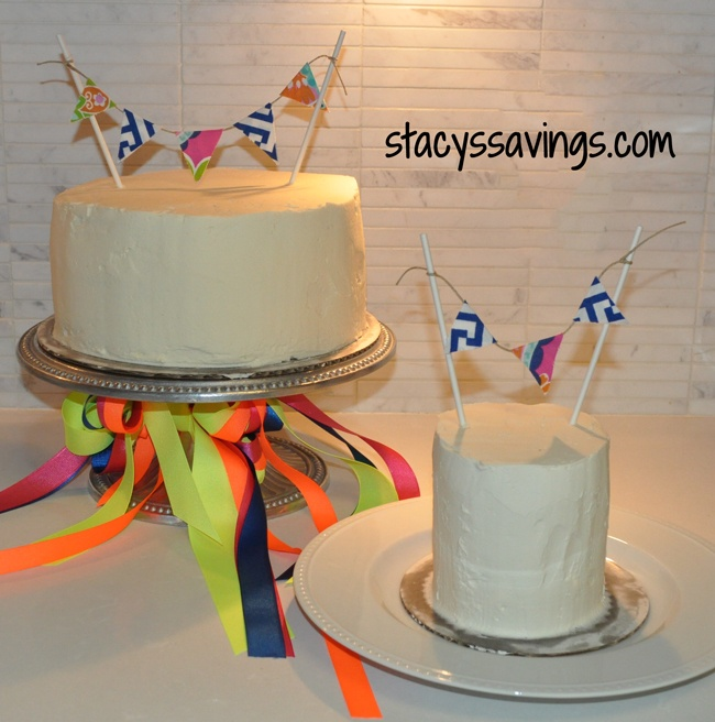 finished cake buntings