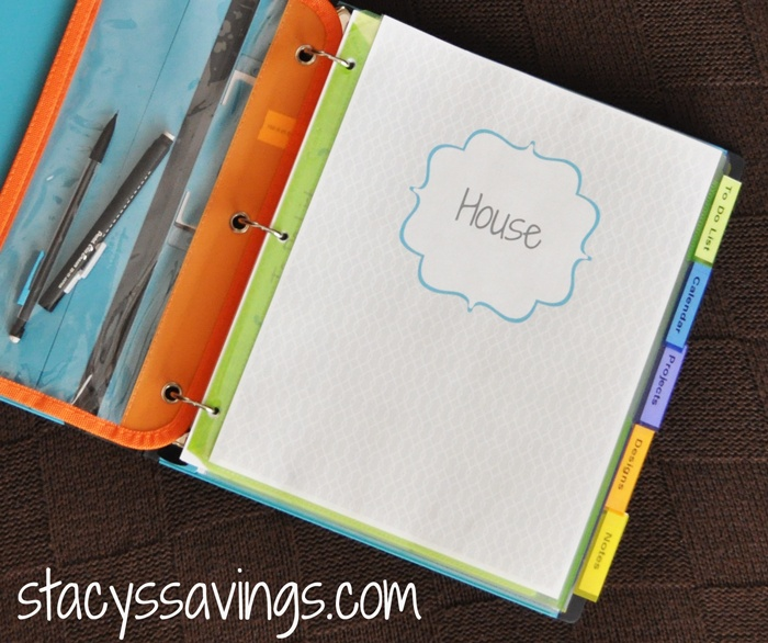Stacys Savings House Binder