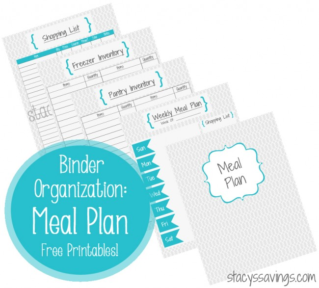 Free Meal Plan Printables
