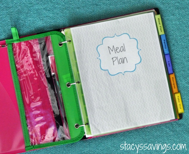 Getting organized meal planning binder for Home planning binder
