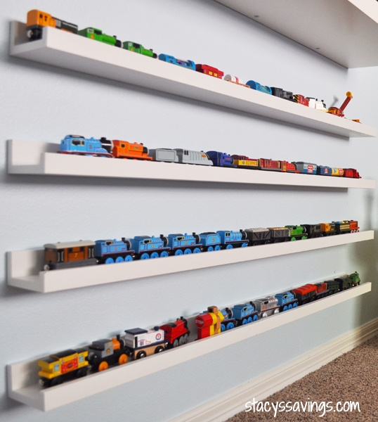 The best and easiest toy train storage ever!
