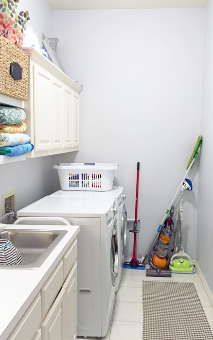 Images from our Laundry Room Phase 1 Makeover.