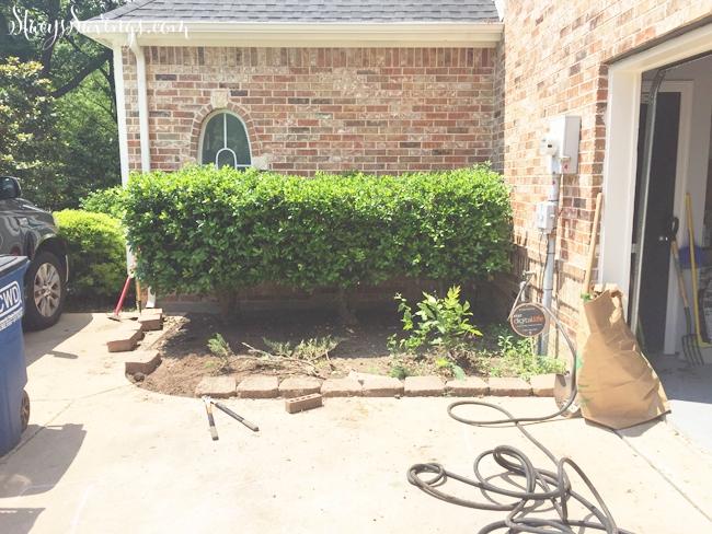 garage patio before