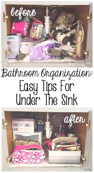 Bathroom Organization: Easy Tips For Under The Sink!