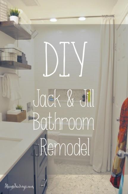 DIY Jack & Jill Bathroom Remodel