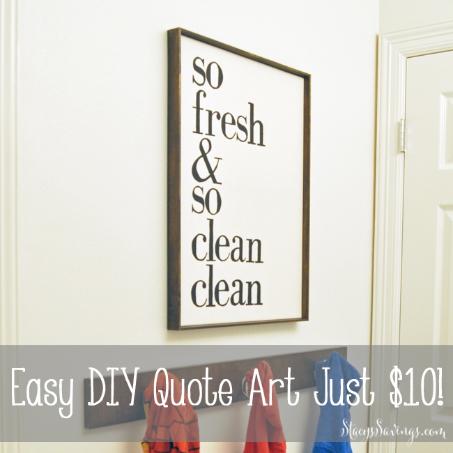 Easy DIY Hand-Painted Quotes on Canvas For Less Than $10!