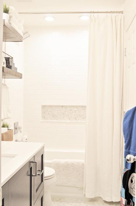 DIY Jack & Jill Bathroom Remodel for $6,000. IKEA Kitchen Cabinet Hack.