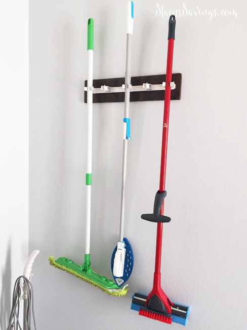 Laundry Room Cleaning Tools Rack Farmhouse Style