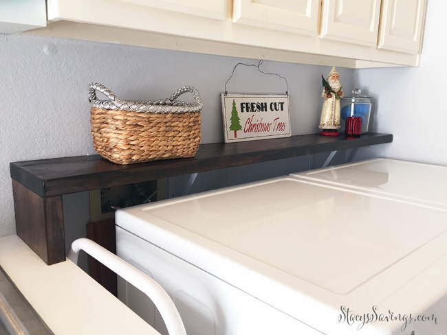 DIY Laundry Room Shelf – Under $25!