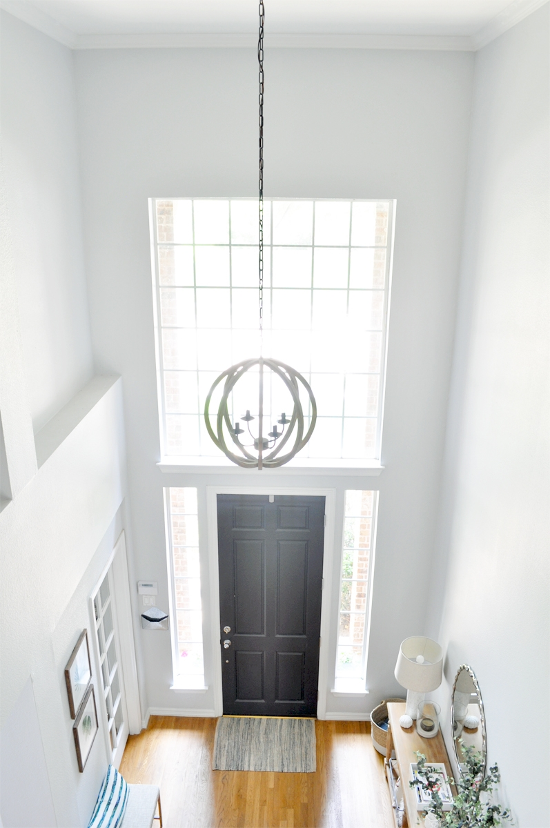 Our Awesome Ballard Designs Rustic Entryway light, as seen on Fixer Upper! Love the simplicity!