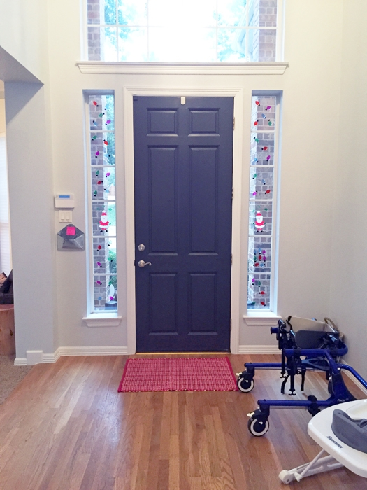 Painting the inside of the front door completely transformed my entryway. See the rest of the transformation on the blog!