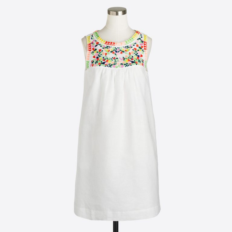 j crew factory embroidered dress
