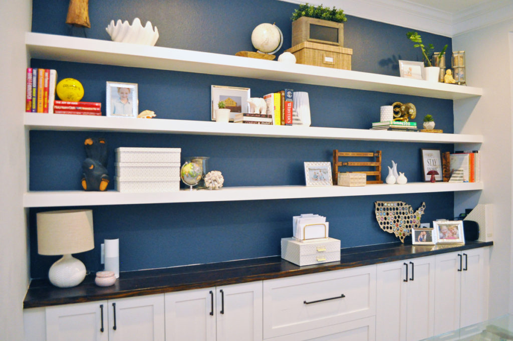 How I Built Wall To Floating Shelves In Our Home Office For 200