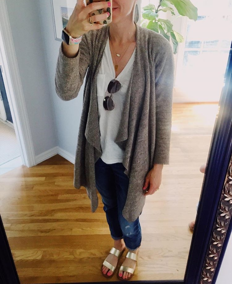 Barefoot Dreams Cardigan. The softest, most comfortable cardigan you will ever own! I wear mine everyday. Get it for less during the Nordstrom Anniversary Sale!