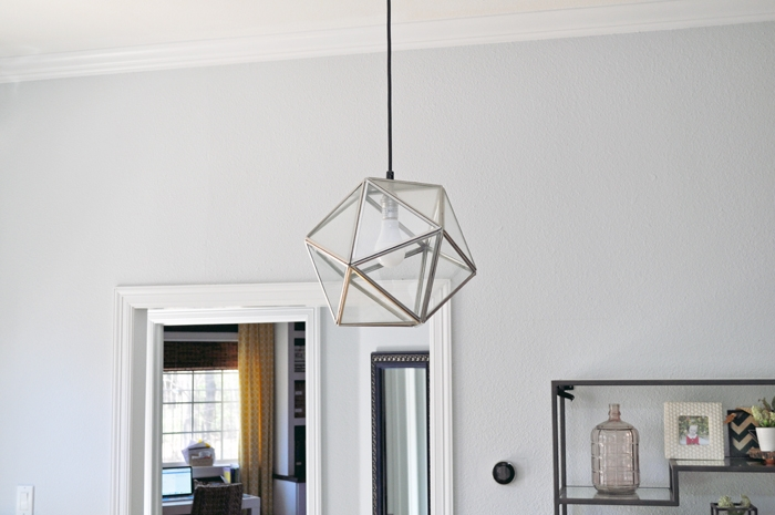 Old West Elm Geometric Pendant Light Fixture
