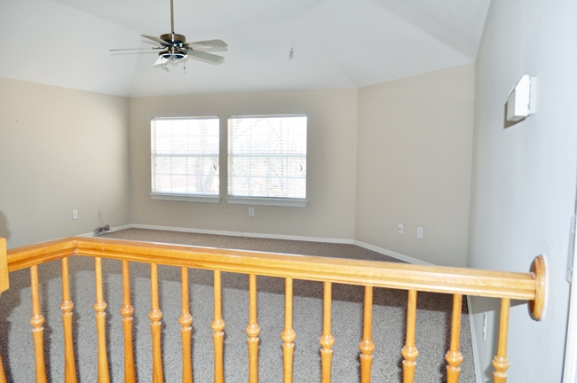 A before shot of our 16x16' playroom.