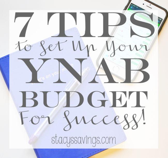 7 YNAB Tips For Success