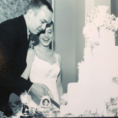 Our Hexagon Wedding Cake