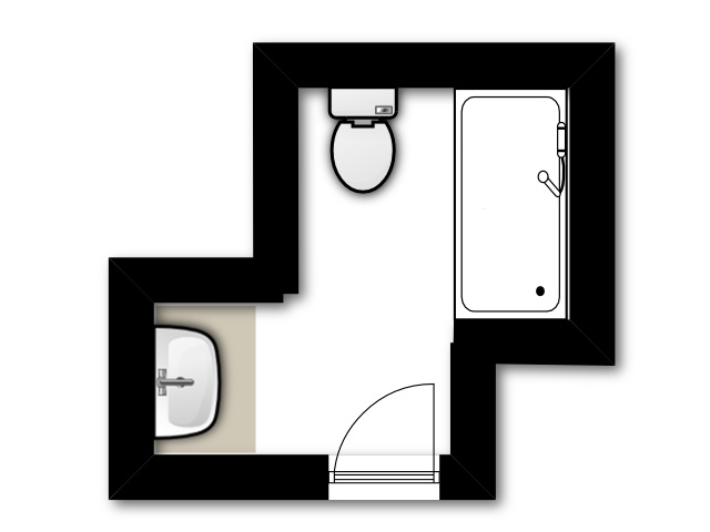 Guest Bathroom Current Floor Plan. Keeping the existing layout for the guest bathroom remodel, we're just replacing everything.