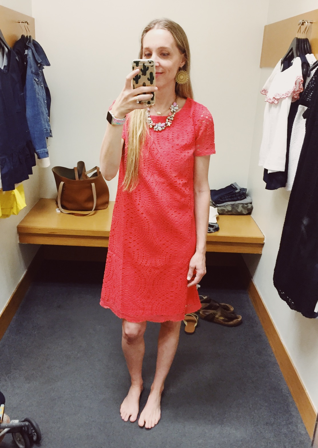 a6cd3b6ebf This Lace Dress with Scalloped Hem was really cute. Coral is not my color