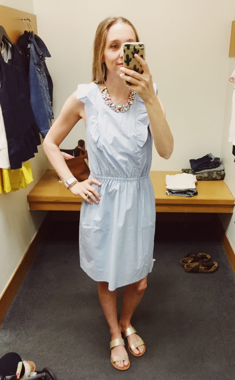 J.Crew Factory Ruffle Front Dress. See all of the cute things I found at my local J.Crew Factory store in March 2018.