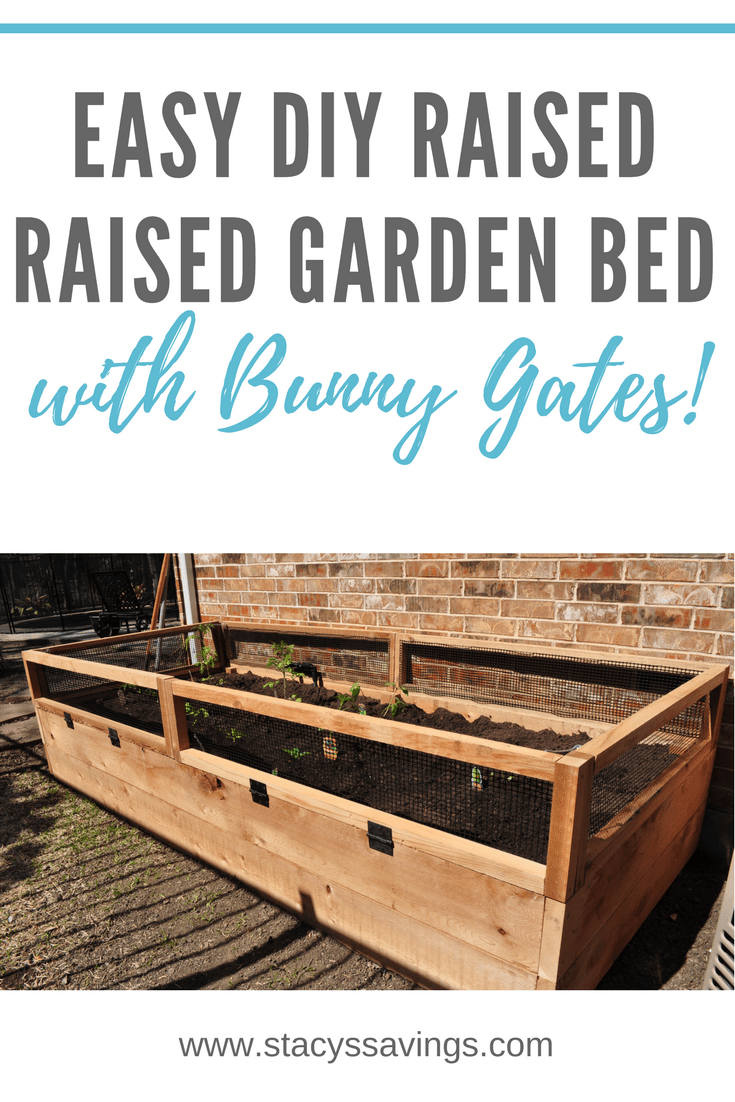 How I Built My Awesome DIY Raised Vegetable Garden Bed & Bunny Gates