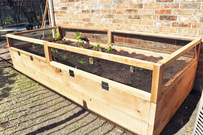 how i built my awesome diy raised vegetable garden bed bunny gates