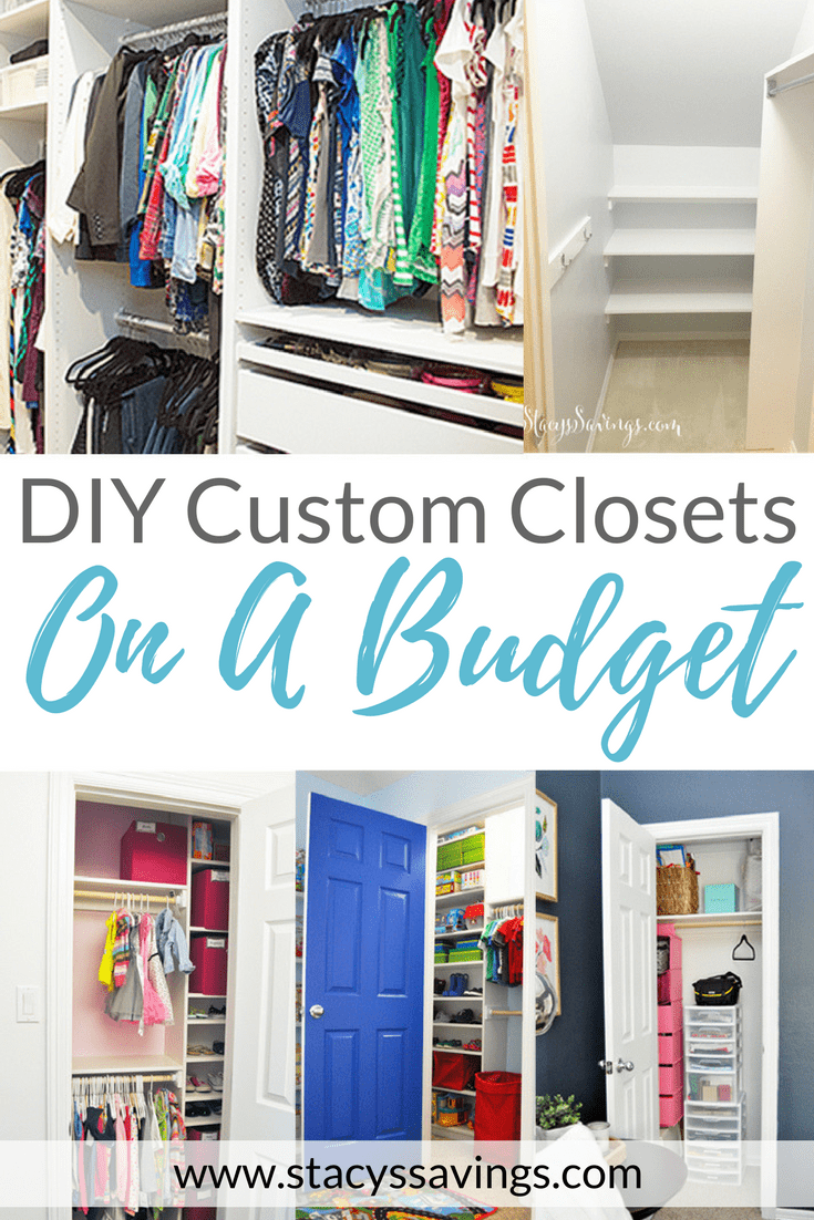 See how I completed DIY Closet Remodels in every closet in our home on a budget! Custom closets without the custom price tag!