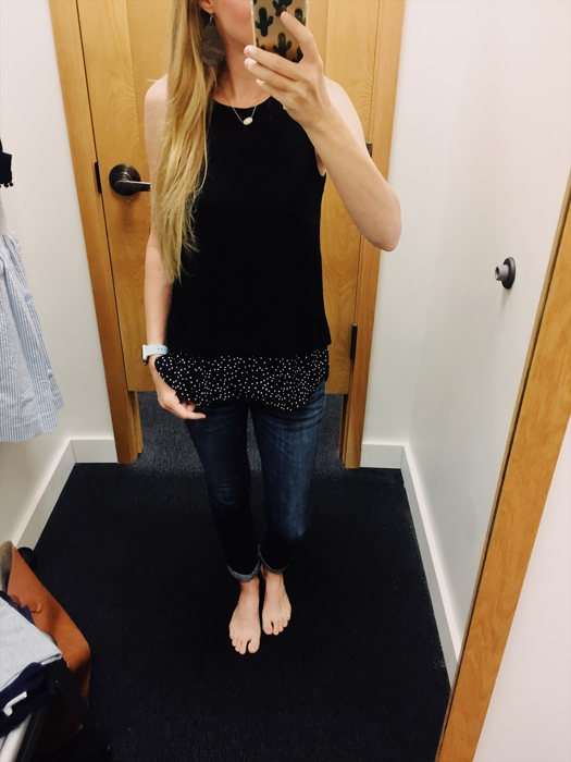 J.Crew Factory Drapey Tank. See everything I tried on at J.Crew Factory this weekend!