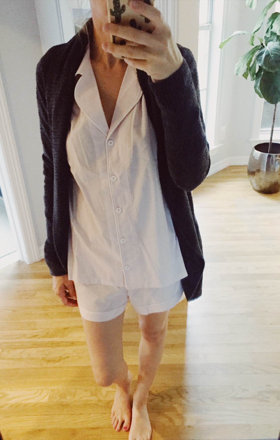 UGG Pajama Set topped with a Barefoot Dreams Circle Cardigan. So comfy! See everything that I bought at the 2018 Nordstrom Anniversary Sale on the blog!