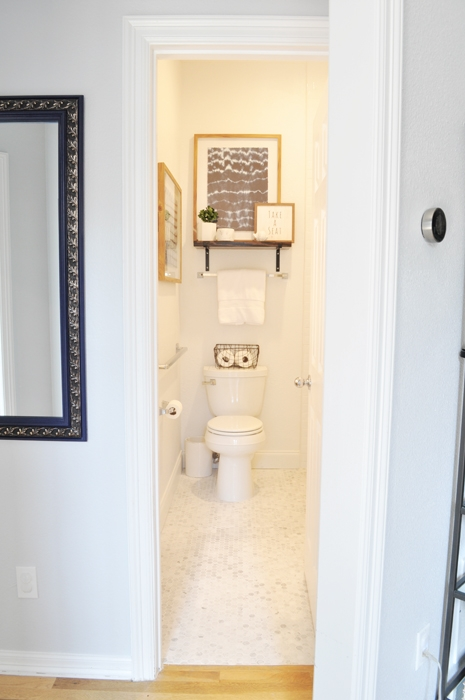 See our disability-friendly Guest Bathroom Remodel!