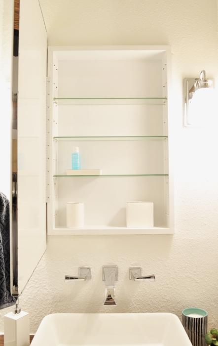 Guest Bathroom Remodel Medicine Cabinet.