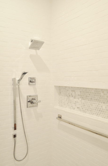 See how our ADA Guest Bathroom Remodel Shower turned out! It's gorgeous!